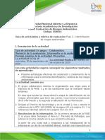 Guía de actividades y rúbrica de evaluación Unidad 2 - Fase 2 - Identificación de riesgos ambientales