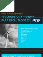 Terminología técnica para reclutadores TI
