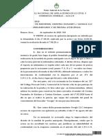 Sentencia Cámara CFK