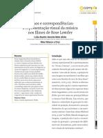 RITMOS E CORRESPONDÊNCIAS - A REPRESENTAÇÃO VISUAL DA MÚSICA