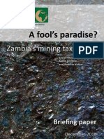 ctpd _fools paradise_ zambia mining tax regime briefing paper