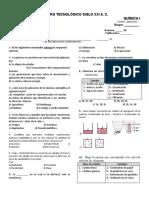 1.- EXAMEN DE QUIMICA 1 - 1 PARCIAL