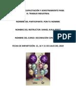 Manual Curso Decoración con Globos (1)