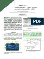 Diseño jerarquico en VHDL y Vivado, sistemas
