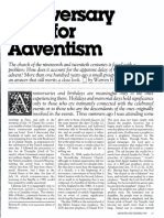 [JOHNS Warren H.] Anniversary date for Adventism (Ministry, 1983-09)