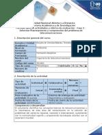 Guía de actividades y rúbrica de evaluación - Fase 2 - Informar Planteamiento y comprensión del problema de telecomunicaciones (1)