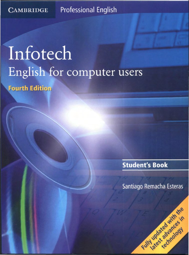 users computer for student infotech book english