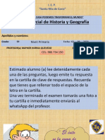 EXAMEN BIMESTRAL DE HISTORIA 5º PRIM.