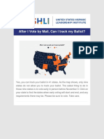 USHLI - After I Vote by Mail Can I Track My Ballot