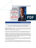 TAMACC Hosts Dr. Anthony Fauci