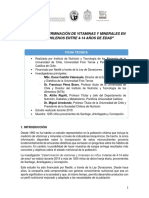 Estudio sobre micronutrientes en niños chilenos