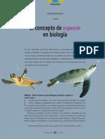 Ruelas. 2018. El concepto de especie en biología