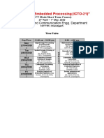 Time Table (ICTO-21)