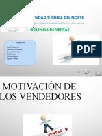 MOTIVACION A LOS VENDEDORES GRUPO 5