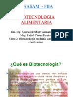 Semana 2. Biotecnología Tradicional y Moderna