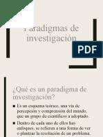 2. Paradigmas de investigación