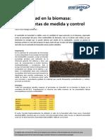 La Humedad en La Biomasa.- Herramientas de Medida y Control