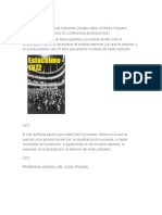 HISTORIA DE CUMBRES ONU CAMBIO CLIMATICO