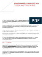 #ÚLTIMO _ TC admitió demanda competencial, pero no aceptó medida cautelar para frenar vacancia presidencial _ LP