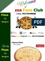 Pizza Fans Club Catalogue