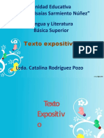 LENGUA Y LITERATURA - TEXTO EXPOSITIVO - BASICA SUPERIOR - SEMANA 16
