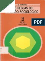 Durkheim_3_reglas Relativas a La Distincion Entre Lo Normal y Lo Patologico
