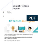 12 Tenses and Explanation