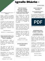 Telegrafo Diário - Mes - 1 Ano - 2