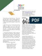 JEST Newsletter February 2011