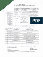 Mid Exam-Date Sheet
