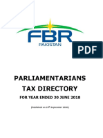 Parliamentarians Tax Directory for year ended 30 June 2018