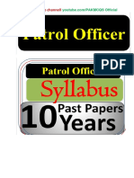 10_YEARS_PATROAL_OFFICER_FPSC_PAST_PAPERS