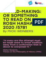 World-Making or Something to Read on Rosh Hashanah