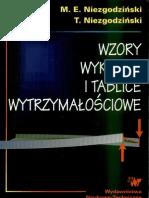 Wzory wykresy i tablice wytrzymałościowe - Michał Edward Niezgodziński, Tadeusz Niezgodziński