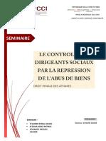 LE CONTROLE DES DIRIGEANTS SOCIAUX PAR LA REPRESSION DE L'ABUS DES BIENS.pdf