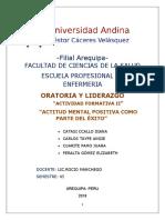 ORATORIA ACTITUD MENTAL POSITIVA