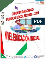 Guion Pedagógico Educación Inicial 2020 -2021