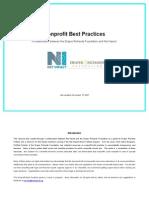Nonprofit Best Practices