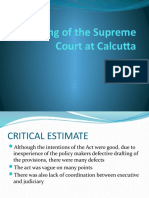 Working of the Supreme Court at Calcutta