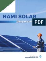 Nami Solar Company Profile Aug 2020 ENG