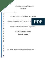 HECHOS DE LOS APÓSTOLES TOMO I