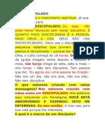 O DISCÍPULO DE CRISTO (1)