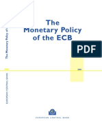 European Central Bank 2001 The Monetary Policy of the European Central Bank