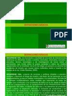 SEGURIDAD VÍAL 1-DEFINICIONES BASICAS