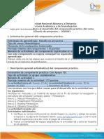 Guía para el desarrollo del componente práctico y rúbrica de evaluación - Unidad 2 - Fase 3 Planificación de prefactibilidad