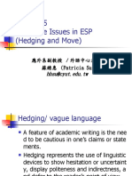 Chap.5 Language issues in ESP(Hedging and Move)) (1)