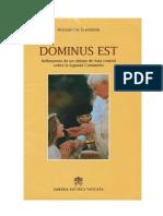 DOMINUS EST_-ATHANASIUS_SCHNEIDER