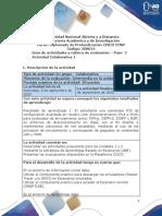 Guía de actividades y rúbrica de evaluacion - Unidad 2 - Paso 2 - Actividad Colaborativa 1