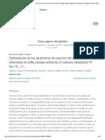 Optimización de los parámetros de reacción del proceso de reformado de nafta pesada utilizando el sistema de catalizador Pt-Re _ Al2O3 - ScienceDirect