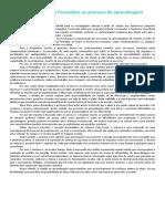 Contribuições da Psicanálise ao processo de aprendizagem